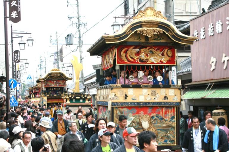 上野天神祭(鬼行列とだんじり)