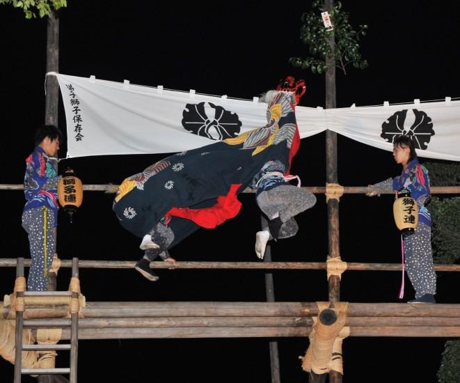 朝倉の梯子獅子 Asakura Lion's Ladder Festival